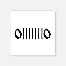 """Unique Front Square Sticker 3"""" x 3"""""""