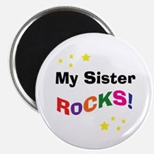 "My Sister Rocks! 2.25"" Magnet (100 pack)"