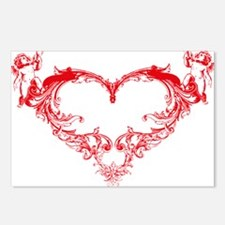 Cupid Valentine Hearth Postcards (Package of 8)