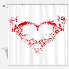 Cupid Valentine Hearth Shower Curtain