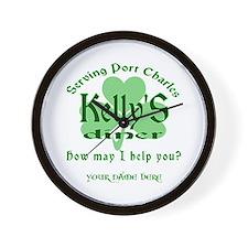 Kellys Diner General Hospital Customize Wall Clock