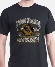 Stinks Squatch Black Swamp Bourbon T-Shirt