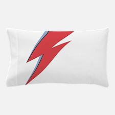Ziggy Stardust - Lightning - On Black Pillow Case