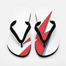 Ziggy Stardust - Lightning - On Black S Flip Flops