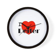 I Love Deiter Wall Clock