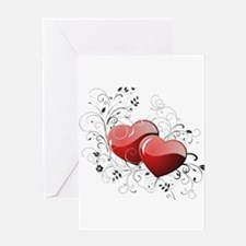Twin hearth Greeting Cards