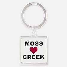 Moss Creek Heart / Ollie Square Keychain