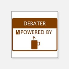 "Cute Debaters Square Sticker 3"" x 3"""