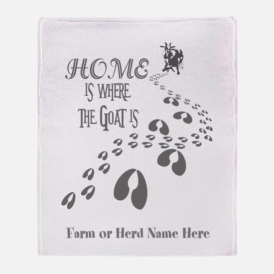 Home is Where the Goat is Pygmy Goats GYG Throw Bl