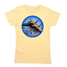 Funny Fighter airplane Girl's Tee