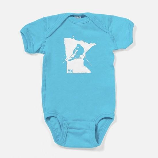 Ski Minnesota Baby Bodysuit
