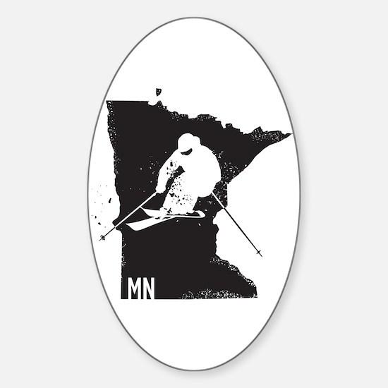 Ski Minnesota Sticker (Oval)