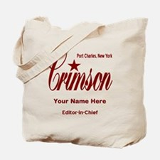 Crimson Editor-in-Chief Customized Tote Bag
