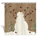 Snowman Shower Curtains
