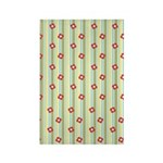 Retro Floral Stripe Rectangle Magnet