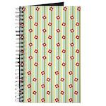 Retro Floral Stripe Journal