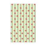 Retro Floral Stripe Mini Poster Print