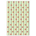 Retro Floral Stripe Large Poster