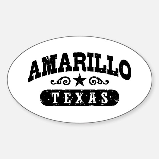 Amarillo Texas Sticker (Oval)