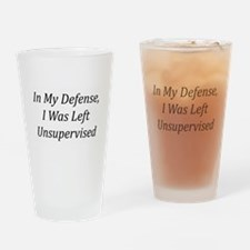 In My Defense Drinking Glass