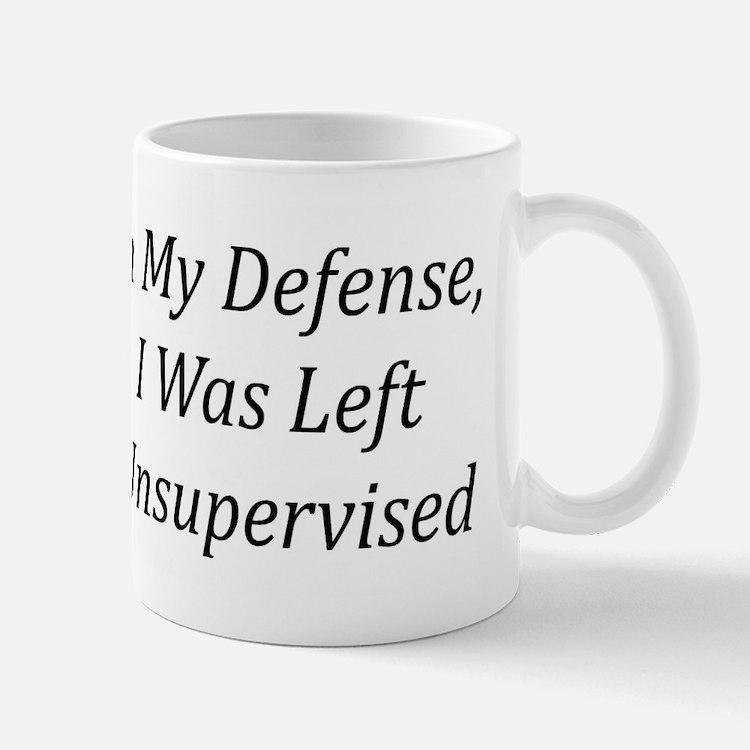 In My Defense Mugs