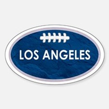 Los Angeles football blue and white Decal