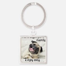 Cute Insanity Square Keychain