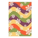 Floral Striped Hippie Art Postcards (Package of 8)