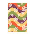 Floral Striped Hippie Art Mini Poster Print