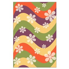 Floral Striped Hippie Art Posters