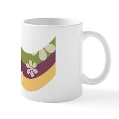 Floral Striped Hippie Art Ceramic Coffee Mug