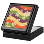 Floral Striped Hippie Art Keepsake Box