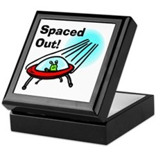Spaced Out Alien Keepsake Box