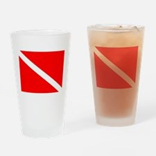 DIVE FLAG Drinking Glass
