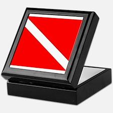 DIVE FLAG Keepsake Box