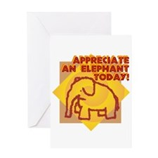 Elephant Day Greeting Card