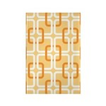 Retro Abstract Art Rectangle Magnet