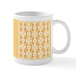 Retro Abstract Art Ceramic Coffee Mug