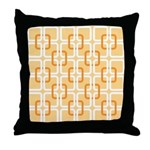 Retro Abstract Art Throw Pillow