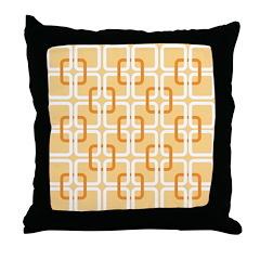 Retro Abstract Art Throw Pillow