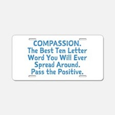 COMPASSION Aluminum License Plate