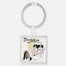 Cute Over Square Keychain