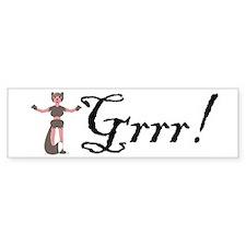 Werewolf Grrr Bumper Bumper Bumper Sticker