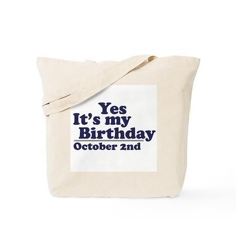 October 2nd Birthday Tote Bag