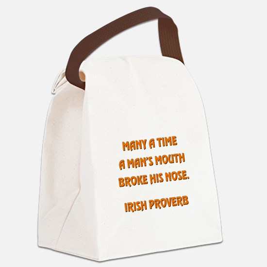 MANY A TIME... Canvas Lunch Bag