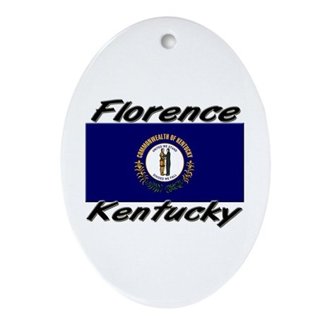 Florence Kentucky Oval Ornament