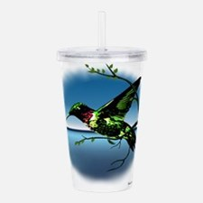 Hummingbird in Flight Acrylic Double-wall Tumbler