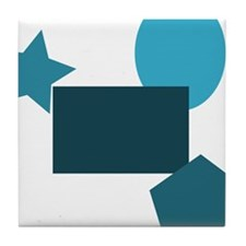 blue forms, geometry Tile Coaster