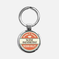 nurse anesthetist vintage logo Round Keychain