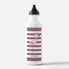 Monogrammed Stripes Fl Water Bottle
